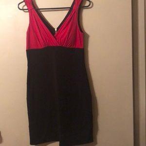 Black & red dress.